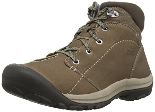 KEEN Women's kaci Winter mid wp-w Hiking Boot, Brindle/Inca Gold, 10 M US