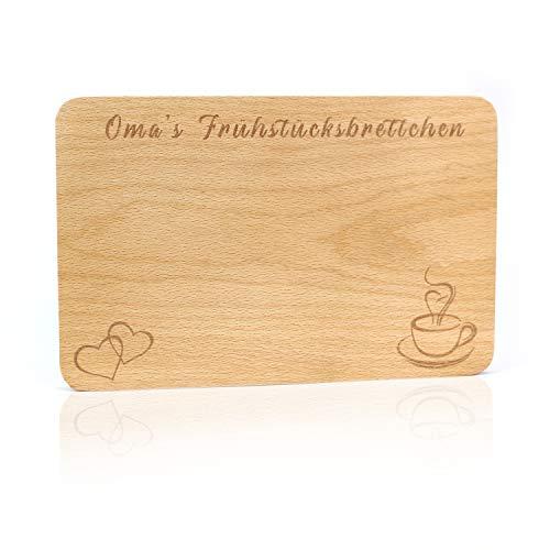 Tabla de desayuno de madera, Tabla de desayuno, Tabla de Madera para Desayuno, Tabla para servir el desayuno, Tabla de desayuno de madera con grabado en alemán, Abuela