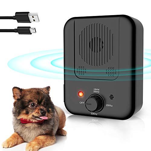 BO-sense Dispositivo de Control de ladridos ultrasónico para disuasión de ladridos de Perro, Entrenamiento de Comportamiento para Perros pequeños, medianos y Grandes, Dispositivos de disuasión
