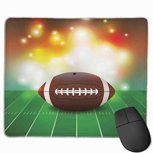 Gaming Mouse Pad American Football Ball auf Gras Sport Rechteck rutschfeste Gummi Mauspads Mousepad Matte für Computer Laptop Bürozubehör Schreibtisch Dekor