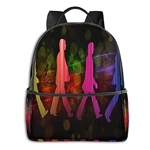 The Beatles - Mochila para hombre y niña, mochila de viaje para portátil, multifuncional, con impresión en D, resistente al agua, resistente al agua