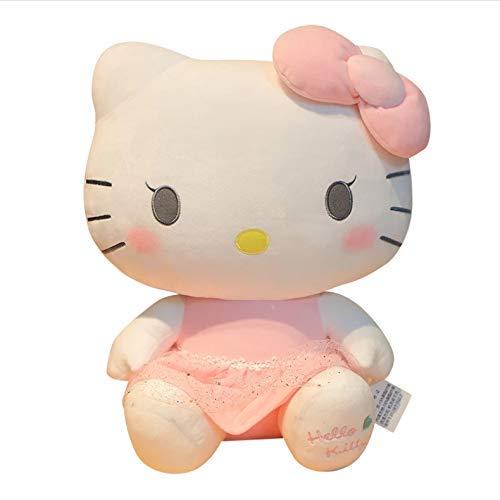 JIAL Kawaii Plüschspielzeug Rosa Katze Bowknot Kleid Katze Puppe Gefüllte Spielzeug Super Nette Geburtstagsgeschenk for Mädchen Baby 30cm Chongxiang