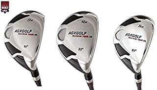 AGXGOLF Men's Magnum XS #3, 4 & 5 Hybrid Utility Irons Set w/Graphite Shafts + Covers Right Hand; Cadet, Regular or Tall Lengths ! Built in The USA!
