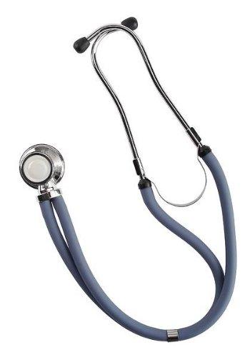 Riester 4155-03 ri-rap Stethoskop, Doppelschlauch, verchromt, 80 cm, verkaufsfördernder Verpackung, Blau