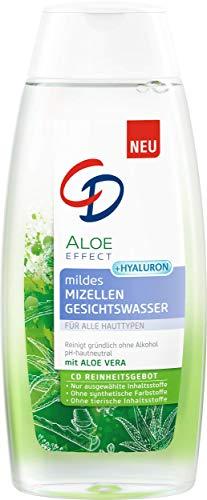 CD Aloe Effect mildes Mizellen Gesichtswasser, 200 ml, sanftes Mizellenwasser zur porentiefen Reinigung, mit Hyaluron & Aloe vera, vegane Gesichtsreinigung