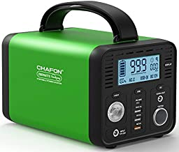 [Upgraded] CHAFON Portable Power Station CF230,230WH Lithium Battery Backup,110V/200W Pure Sine Wave AC Outlet,Solar Source for Outdoors Camping,Road Trips,Emergency (Green)