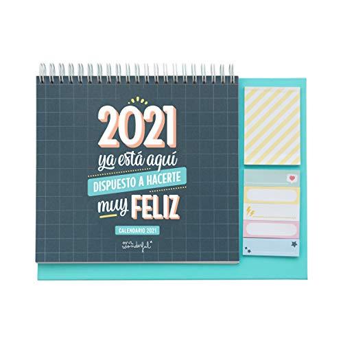 Calendario de sobremesa - 2021 ya está aquí dispuesto a hacerte muy feliz