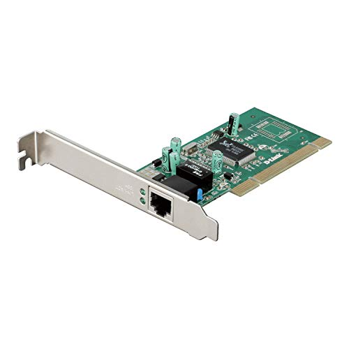 D-Link DGE-528T – Tarjeta PCI Gigabit Ethernet RJ45 (10/100/1000 Mbps), Compatible con Windows, Windows Server, Linux y MacOS
