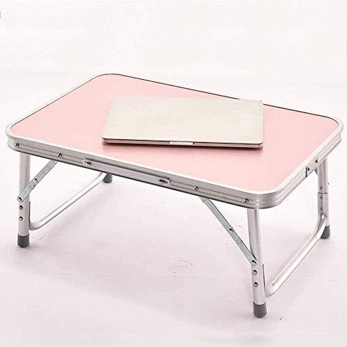 Mesa-Aleación de Aluminio Plegable Simple Portátil Mesas Cama Mesa Perezoso Estudio Pequeño Escritorio Color Opcional-B.