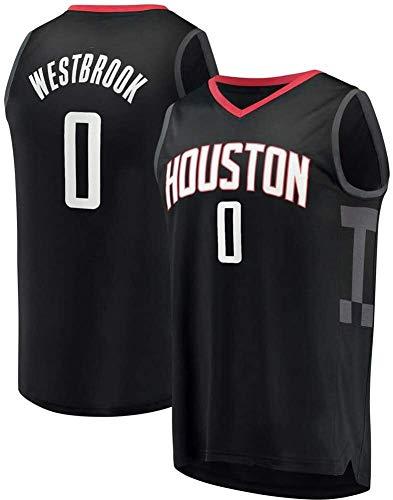 Uomo Pallacanestro Jersey Russell Westbrook 0 # Houston Rockets pallacanestro Fan Jersey estivo di pallacanestro della maglia Uniforme Tops basket maglie in fibra di poliestere comodo e morbido-omaggi