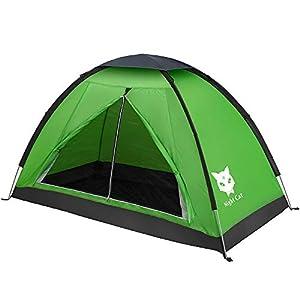 Night Cat Tienda de mochilero Impermeable Ligero 1 2 Hombre Persona Fácil de configurar Tienda Individual para Senderismo Camping 10