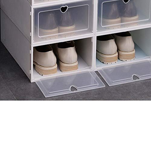 Wangkangyi 20 cajas de almacenamiento de zapatos apilables de plástico con tapa...