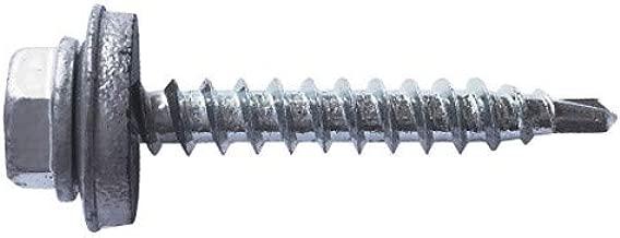 Index ABE166390 Tornillo punta broca DIN 7504-K zincado con arandela P-16 EPDM 6,3 x 90