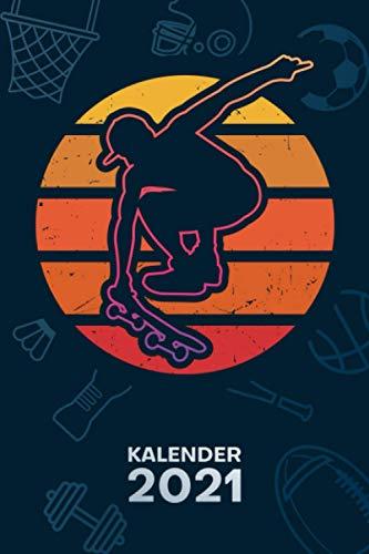 KALENDER 2021 A5: für Skater - Skateboarder Terminplaner mit DATUM - Skateboarding Organizer für Termine - Wochenplaner von Januar bis Dezember - 1 Woche auf 2 Seiten mit Kalenderwoche