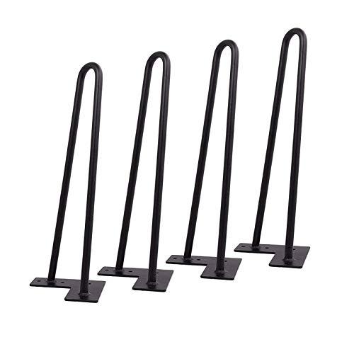 4 Piezas De Patas Horquilla Patas De La Mesa Hairpin Patas A Horquilla Patas Para Muebles De Metal Negro Diy Muebles Para SofáS Mesas De Centro Camas(50cm/19.6in)