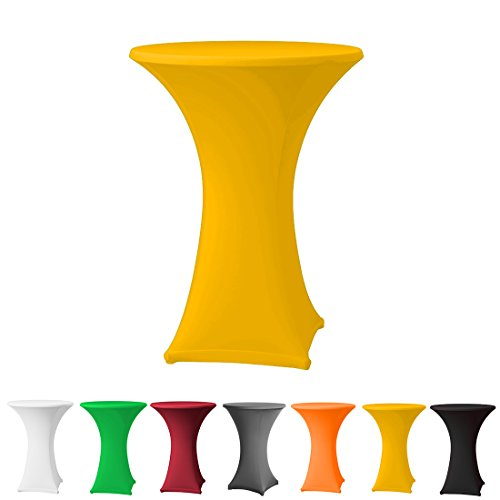 Babat Stehtischhusse Stretch in Farbe gelb und Durchmesser 80-85 für Bistrotisch/Stehtisch