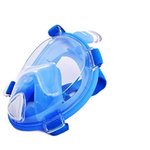 YHYSJ Máscaras de Snorkel de Cara Completa Vista panorámica Antivaho Antifugas Natación Snorkel Máscara de Buceo Submarino Compatible con GoPro