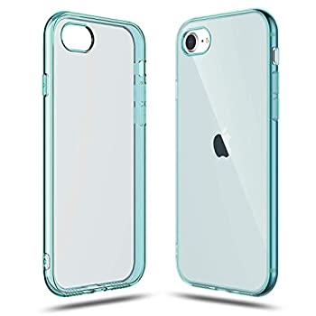 Shamo s Transparent Shock Absorption TPU Rubber Gel Case  Blue  Compatible with iPhone SE 2020  2nd Generation  iPhone 7 and iPhone 8