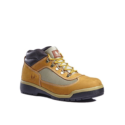 kingshow Men's Classic Work Boots (11 M US Men's, Wheat)