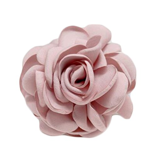 Elegant Flowers Brooch Sweater Cardigan Chest Flower Pin pour les dames, rose