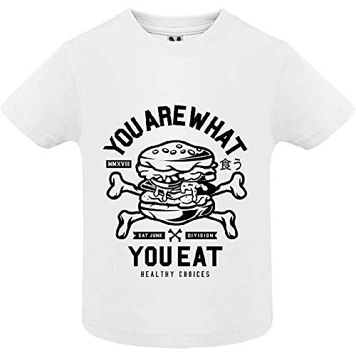 LookMyKase T-Shirt - You are What You Eat - Bébé Garçon - Blanc - 18mois