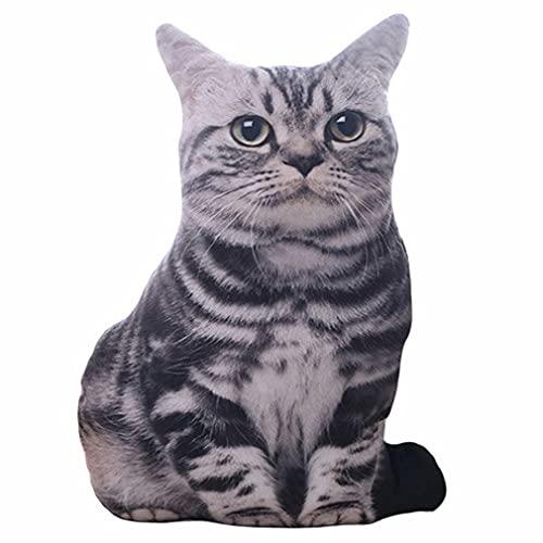 CloverGorge Simulación de Felpa Gato Almohadas para Dormir Suave Animales de Peluche cojín sofá decoración