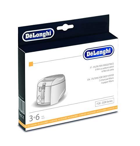 Delonghi FIL.F28 Kit de filtros substituibles para freidoras DeLonghi, carbón
