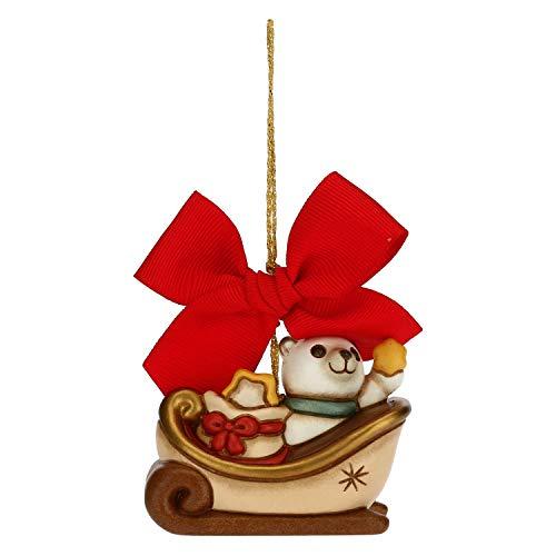 THUN ® - Addobbo per Albero di Natale Slitta 2020 Grande