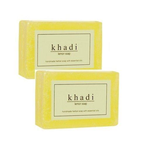 Khadi handgemachte Seife Zitrone - 250 g - Packung mit 2