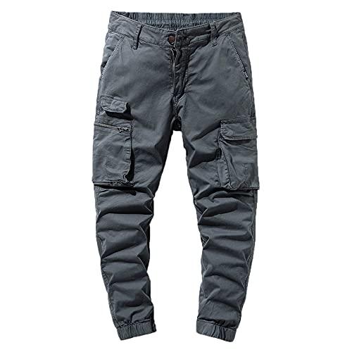 Pantaloni Cargo Uomo Pantaloni Casual Pantaloni Uomo Tasche Laterali Tinta Unita Fashion Pantaloni da Lavoro Pantaloni Sportivi per Vacanze di Piacere E Vita Quotidiana