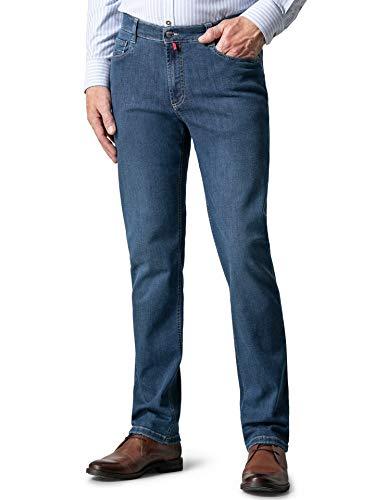 Walbusch Herren Bügelfrei Flex Jeans Modern Fit einfarbig Stone 24
