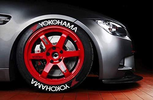 LK Performance Yokohama - Pegatinas de goma para neumáticos con letras de vinilo