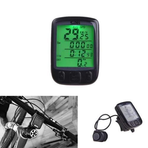 WAZA Fahrradcomputer Wasserdicht Kabellos Automatisch EIN/Ausschalten Reifenumfang Uhr ODO - Kilometerzähler + - Vergleich