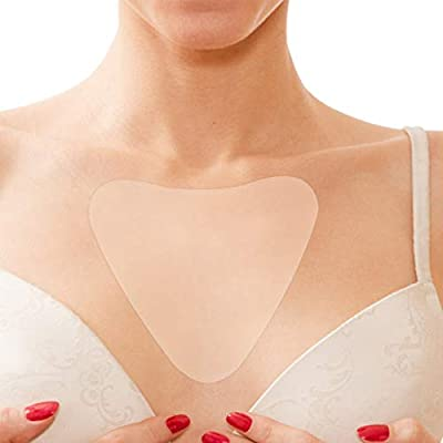 Silicone Pad for Cleavage Anti-wrinkle, Transparent Self-adhesive Chest Pad, Breast Care to Eliminate and Prevent Breast Wrinkles, Skin Care Lifting Washable Reusable(Dreieckform) from Salmue