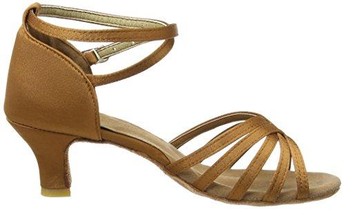 Amurleopard Damen Latein Schuhe 5cm Absatz Dunkelbraun 39(Herstellergröße:40) - 6