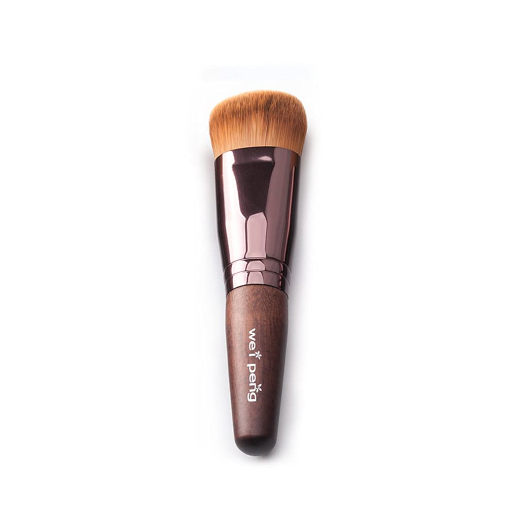 Dark NEW before selling Brown Foundation Brush Artificial Soft National uniform free shipping Makeup Pot Comestics