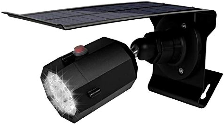 AQWWHY Solar-Bewegungssensor beleuchtet im Freien 5W drahtloses Aluminium-LED-Flut-Sicherheitslicht, 3 Modi, 360 Grad 10 LED Solar-Spotlight-1400 Lumen für Yard Porch-Garage