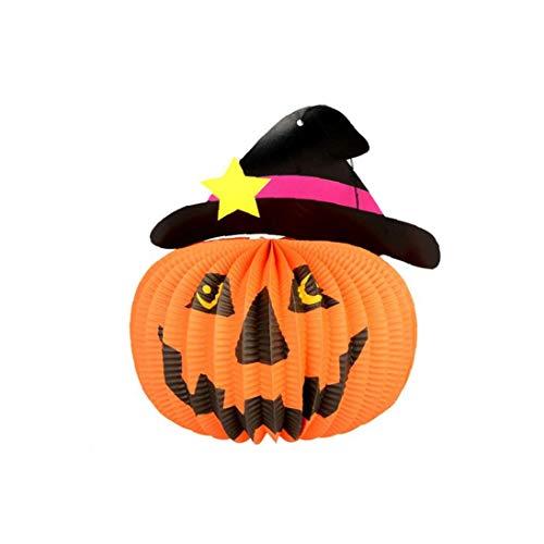 Decorazioni Di Halloween Fantasmi Doll Pendenti Di Elementi Decorativi Di Zucche Fantasmi E Ragni Per La Casa Bar KTV Supermercato Decorazione (1 Pezzi Cappello)