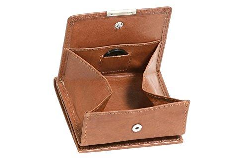 LEAS Wiener-Schachtel mit großer Kleingeldschütte RFID Schutzfolie gegen Datendiebstahl, Echt-Leder, cognac Special Edition
