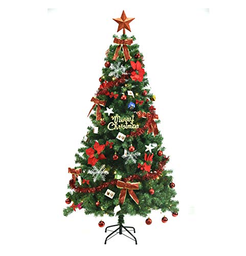 クリスマスツリー 150cm クリスマスツリー セット LED 飾りライト クリスマス オーナメント 組立簡単 収納便利 クリスマス飾り プレゼント おしゃれ 高級 豪華 装飾 クリスマスグッズ インテリア 用品 (150-3)
