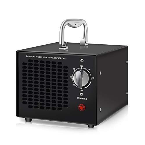 Generador de ozono comercial byhui, ionizador de aire de, purificador de aire, con temporizador, adecuado para el hogar, hotel, oficina, automóvil, restaurante, desodorización y esterilización (negro)