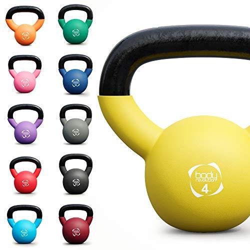 Body Revolution Kettlebells - Neoprene Coated Cast Iron Kettlebell - Range of Kettle Bells Sold Separately (4kg (Yellow))
