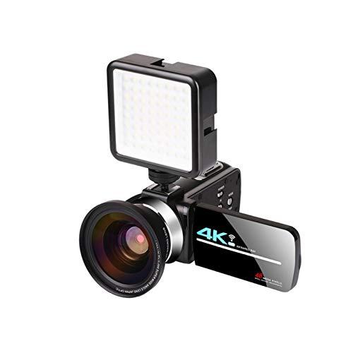 POHOVE Videocamera 4K ad alta definizione Videocamera 16X Zoom Digitale Live Streaming Webcam Recorder,Smart Wifi Camcorder con telecomando e paraluce per videochiamate online