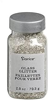 Darice Vintage Silver Glass Glitter: 2.8 Oz