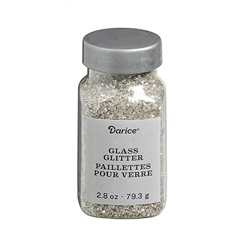 Darice 30029673 Vintage Silver Glass 2.8 oz Glitter,
