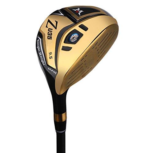 MAZEL Titanium Driver de Golf pour Homme, droitier, 460 CC, Golden 9.5 Degree Flex Stiff