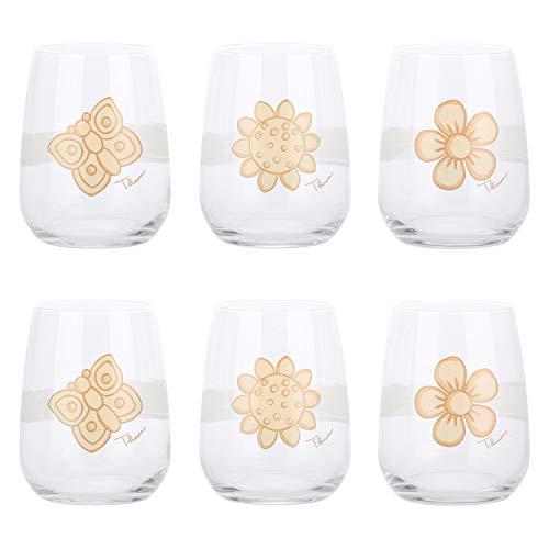 THUN® - Set 6 Bicchieri - Accessori Cucina - Vetro - Accessori Casa - Linea Elegance