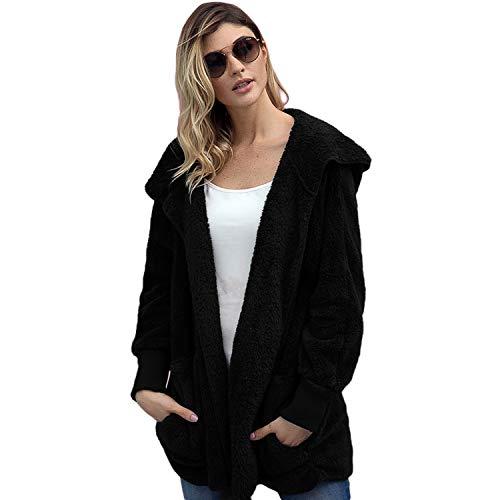 Femmes Mode Polaire Vestes Outdoor Lapel Sweat Automne Hiver Doux Loisirs Full Zip Cardigan Nounours Manteau Sweatshirts pour Noël Vestes,e,XL