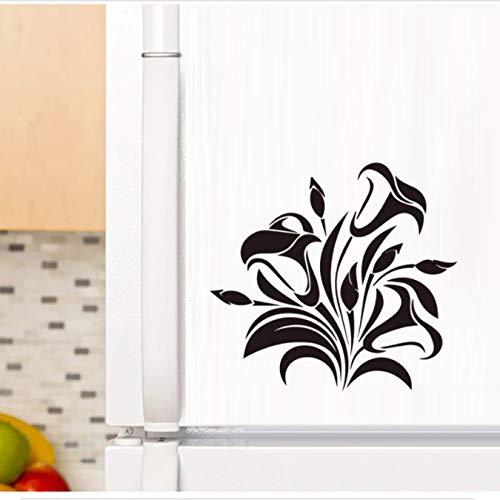 Pegatina de pared de vid de flor negra, decoración de muebles de gabinete, calcomanías de arte para el hogar, pegatinas de papel tapiz