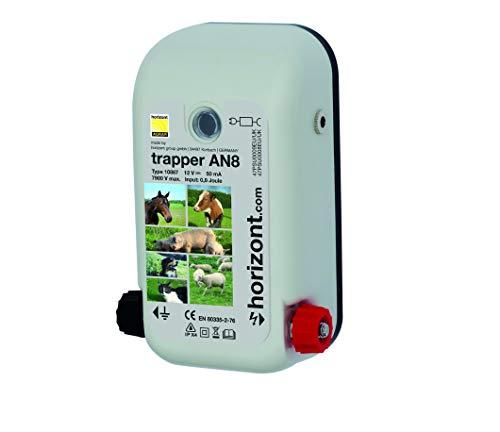 Horizont Weidezaungerät Elektrozaungerät trapper mini AN8 0,8J - 12, 230 Volt